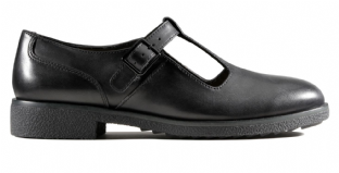 Clarks Griffin Town Black Leather Womens Shoes